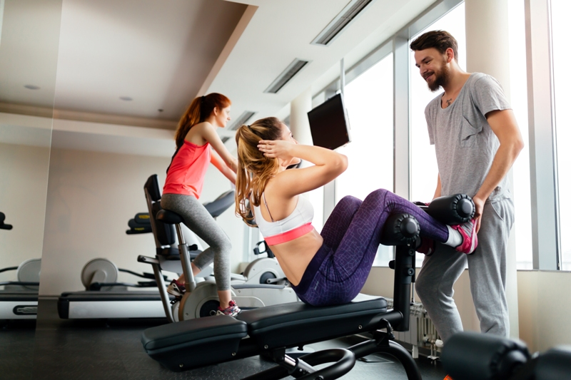 Trener siłownia